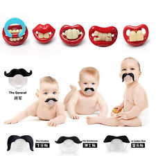 Baby Funny Dummy Prank Pacifier Novelty Teeth  Child Soother Nipple Lips s122