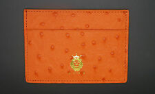 Ostrich Leather Credit Card Holder -- 100% Genuine Leather -- Hand Made in USA