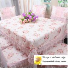 Country Style Victorian Pink Rose Floral Cotton Lace Table Cloth