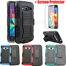 Armor Hybrid Case Cover Holster For Samsung Galaxy Prevail LTE Core Prime G360