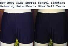 New Boys Kids Sports School Elastane Swimming Swim Suit Shorts Trunks Size 5-13