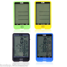 Wireless MTB Bike Bicycle Cycling Computer Odometer Speedometer LCD Backlight