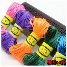 20Meter Chinese Knot Satin Nylon Braided Cord Macrame Beading Rattail Cords 2mm