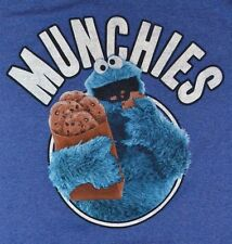 Sesame Street Cookie Monster MUNCHIES Adult T-Shirt Officially Licensed Tee