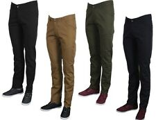 MENS CHINO DESIGNER JEANS TWISTED FAITH TF11-P BROWN OLIVE BLACK NAVY 28 TO 40