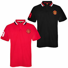 Manchester United FC Official Football Gift Mens Crest Polo Shirt (RRP £14.99!)