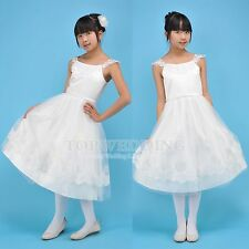 NEW Ivory Flower Girl Dress Wedding Bridesmaid Party Pageant Communion Size 8 10