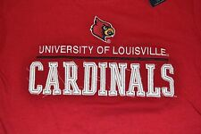 University of Louisville Cardinals Embroidered Logo Style T-Shirt Licensed OVB