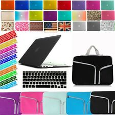 Bundle Rubberized Hard Case+Neoprene Sleeve+Keyboard Cover For Macbook Air Pro