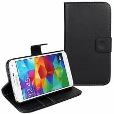 Luxury PU Leather Card Holder Flip Case Cover For All Samsung Galaxy Phone BLACK