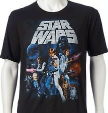 STAR WARS Luke Skywalker Darth Vader R2D2 Vintage The Force Awakens TShirt NEW