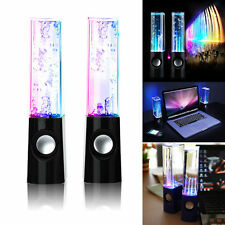 LED Dancing Water Show Music Fountain Light Speakers for iPhone Computer Laptop
