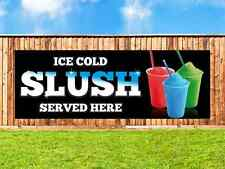ICE SLUSH PVC Printed Banner Outdoor/Indoor Catering Sign Restaurant Eyelets