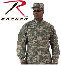 Acu Digital Camouflage Army  Military Combat Tactical Rip-Stop BDU Shirt 5765