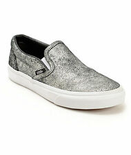 VANS CLASSIC SLIP-ON UNISEX Shoes (METALLIC SILVER) BRAND  NEW in BOX!!