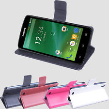 Folio Stand Leather Case Cover Skin For 5inch Philips I908 Smartphone