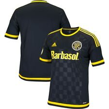 adidas Columbus Crew MLS 2014-2015 Soccer Away Jersey Black - Yellow