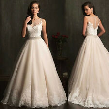 Western princess dresses Bride Gown Wedding Dress/ Lace backless Word shoulder