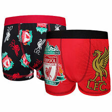 Liverpool FC Official Football Gift 2 Pack Boys Boxer Shorts (RRP £14.99!)