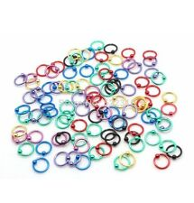 Colourful titanium coated 8mm captive bead ring piercing nose lip hoop bar stud