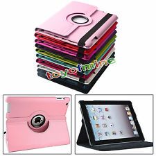 "New 360°Rotating Folio Smart Leather Case Cover For Apple iPad 9.7"" iPad 2 3 4"