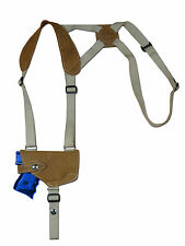 NEW Barsony Horizontal Olive Drab Leather Shoulder Holster Glock Comp 9mm 40 45