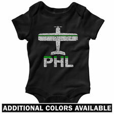 Fly Philadelphia PHL Airport One Piece - Baby Infant Creeper Romper - NB to 24M