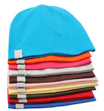 Cute Unisex Baby Boy Girl Cotton Beanie Hats Soft Toddler Caps Kid Simple Cool