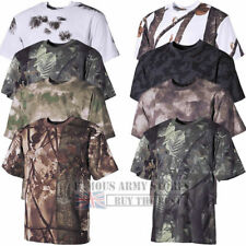 HUNTER T-SHIRT MENS COMBAT CAMOUFLAGE ARMY MILITARY FOREST HUNTING SHOOT FISHING