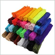 "Pipe Cleaners  Chenille Craft Stems  30cm 12"" Lots of Colours Pipe cleaner"