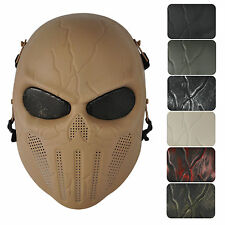 Eye Mesh Punisher Skull Full Face Mask for Hunting War Game Paintball 7 Colors
