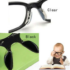 5Pairs Eyeglass Sunglass Glasses Spectacles Anti-Slip Silicone Stick On Nose Pad