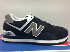 MENS NEW BALANCE M574SKW CLASSIC BLACK SILVER SUEDE SNEAKERS ATHLETIC RUNNING