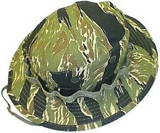 Mil. Issue Special Force Vietnam Tiger Stripe Camo Cot Rip-Stop Boonie Hat 307