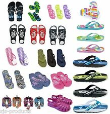 Kids Childrens BOYS GIRLS Flip Flops Sizes Childs 5 to Adult 5 Sandals Brand NEW