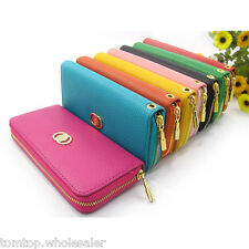Ladies PU Leather Purse Zip Wallet Phone Card Holder Bag Parties Long Clutch