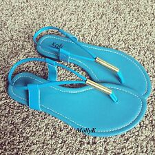 New SNG Women T - Strap Gladiator Thong Flat Flip Flops Sandals Shoes Size
