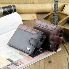 Hot! Men's Bifold Wallet PU Leather Credit/ID Card Coin Holder Slim Buckle Purse