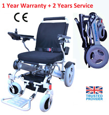Light (28.5kg) Portable Folding Electric Wheelchair Powerchair - dual batteries