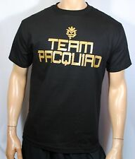 Manny Pacquiao Training T Shirt Pacman Money Tee Boxing Mens Team Pacquiao Black