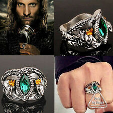 925 STERLING SILVER LORD OF THE RINGS JEWELRY ARAGORN'S RING OF BARAHIR SZ 7-12