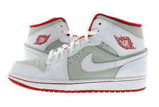 "Men Air Jordan 1 Retro Mid ""Hare"" White/True Red 719551-123"