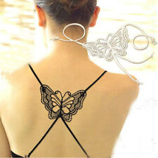 Sexy Women Underwear Cross Back Butterfly Bra Belt Shoulder Strap Black/White