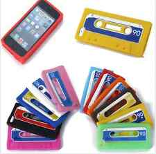 NEW Retro Silicone Rubber Cassette Tape Back Case Cover Skin For Apple Iphone 4S