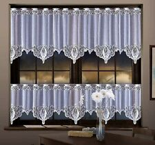 KITCHEN WHITE CAFE NET CURTAIN   SOLD BY METERS