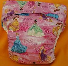 All In One Adult Baby Reusable Cloth Diaper S,M,L,XL Princess Debut