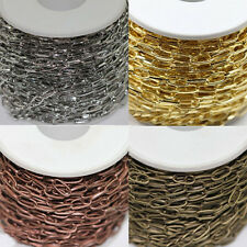 1/10M Silver/Golden Plated Solid Metal Cross Chain Findings Multi-Color 10x5mm