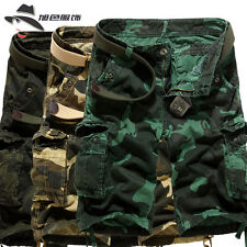 Hot Mens Casual Military Camouflage Shorts Pants Army Cargo Combat Camo Trousers