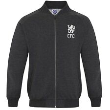 Chelsea FC Official Football Gift Mens Retro Varsity Baseball Jacket Navy