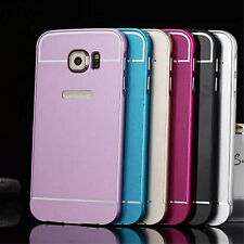 Luxury Ultra-thin Aluminum Metal Bumper PC Back Case Cover For Phones cases